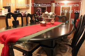 make your own table runner diy christmas table runner the real real housewife