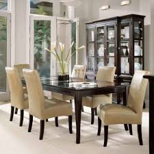 classic modern dining room descargas mundiales com base brown leather seat wooden legs dining chairs contemporary interior dining room grey walls wood classic