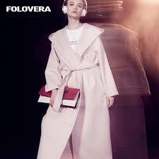light pink wool coat folovera 2017 autumn winter light pink wool coat cashmere coat