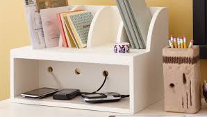 Woodworking Plans Desk Organizer by Charging Post And Mail Organizer