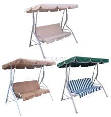 Outdoor Canopy Chair Foxhunter Garden Metal Swing Hammock 3 Seater Chair Bench Outdoor