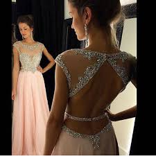 aliexpress com buy shinny peach prom dresses with cap sleeves