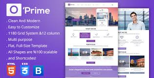 Themeforest Html Templates o prime multi purpose responsive html template by spyropress