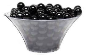 large clear flared candy bowl for candy buffets