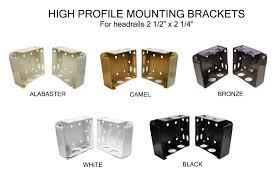 amazon com high profile box mounting bracket set white home
