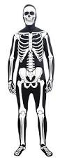 Halloween Skeleton Bodysuit C863 Disappearing Man Second Skin Full Body Suit Zentai Bucks
