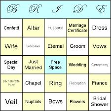 wedding words for bingo how to play bridal shower bingo