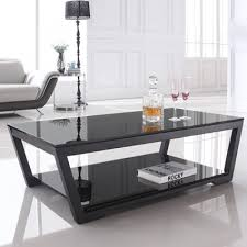 black and glass coffee table avellino glass amelia coffee table