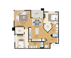 Functional Floor Plans 1 2 And 3 Bedroom Floor Plans Aqua On The Levee