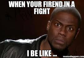 Meme Fight - when your firend in a fight i be like meme kevin hart the