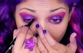 how to perfect the cheshire cat u0027s purple makeup look for halloween