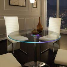 Large Glass Dining Tables Round Glass Dining Table Ebay