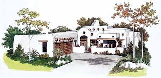 santa fe style house plans santa fe southwest house plan 99276