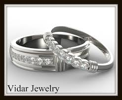 his and wedding bands matching wedding band set for his and hers vidar jewelry