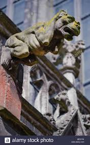 gargoyle ornament on a style cathedral stock photo royalty