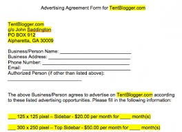 crafting a simple blog advertising contract or agreement tentblogger