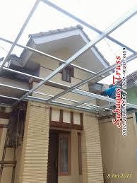 pemasangan kanopi baja ringan bagus murah atap spandek di mutiara