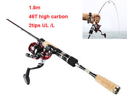 ultra light rod and reel 46t carp fishing rod set 2tips ul l carbon spinning fishing rod1 8m