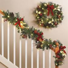 lighted christmas wreaths for windows ls elegant lighted garland for any party in your home