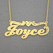 custom name necklaces gold personalized joyce name necklace