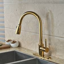Gold Kitchen Sink Columbine Gold Finish Kitchen Sink Faucet With Pull Out Sprayer
