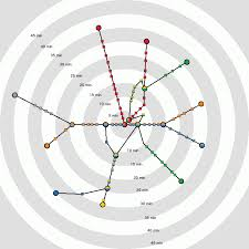 Metro Line Map by See How Long It Takes To Get From Each Metro Station To The