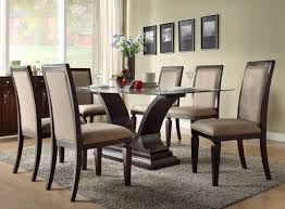 glass breakfast table set merry glass dining room table set 5 piece 4 leather chairs kitchen
