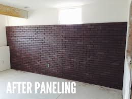 painting paneling in basement diy faux brick wall snappy casual