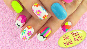 diy nail art without any tools 5 nail art designs diy projects