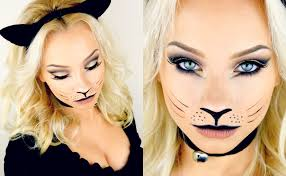 easy face makeup for halloween last minute halloween kitty cat makeup tutorial 2015 youtube