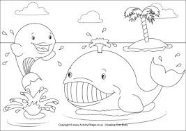 Whales Colouring Page Whale Color Page