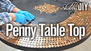 Diy Round Wood Table Top by Penny Table Top Using Glaze Coat Youtube
