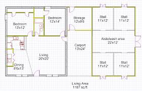 Barn Plans With Living Quarters Floor Plans Horse Barn House Plans Tiny House