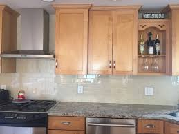 cream glass subway tile kitchen backsplash remodel subway tile