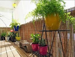 balkon bambus sichtschutz bambus sichtschutz rustikale atmosphäre für ihren außengestaltung
