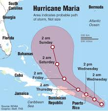 Eastern Caribbean Map by Hurricane Maria Tears Through The Eastern Caribbean Toward Puerto Rico