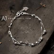 bracelet women silver images Silver bracelets layered stars chain bracelet gift jewelry jpg