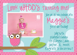 Free First Birthday Invitation Cards Owl 1st Birthday Invitations Ideas U2013 Bagvania Free Printable