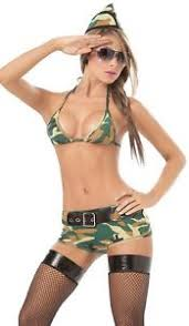 Army Costumes Halloween Militar Ejército Camo Seductora Mujer Adulto Traje