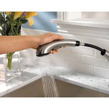 stainless steel clairmont 1 handle pull out kitchen faucet