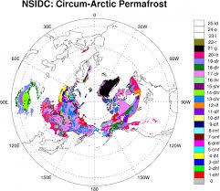 Arctic Circle Map Permafrost Circum Arctic Map Of Permafrost And Ground Ice