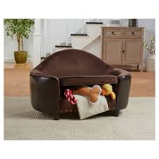 Enchanted Home Storage Ottoman Enchanted Home Pet Caldwell Headboard Pet Sofa Brown Target