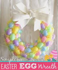 how to make an easter egg wreath one savvy nyc area simple diy easter egg wreath