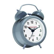 small belle alarm clock cool grey