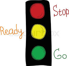 stop and go light doodle style traffic lights with stop ready and go words opposite