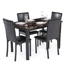 Esszimmertisch Set Nur 135 01 U20ac Ikayaa 5pcs Moderne Küche Esszimmer Tisch Stuhl Set