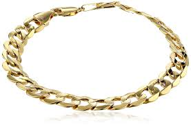 gold jewelry bracelet designs images Men 39 s 10k yellow gold 8 8mm curb link bracelet 9 jpg