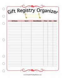 free gifts for wedding registry wedding gift registry list printable lading for