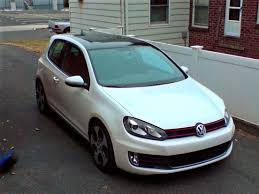 black roof color matched sidemarkers on candy white gti vw gti