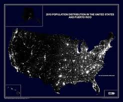 united states population map 2010 population distribution in the united states and
